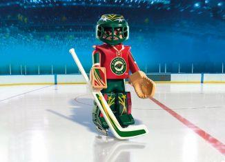 Playmobil - 9038-usa - NHL® Minnesota Wild® Goalie