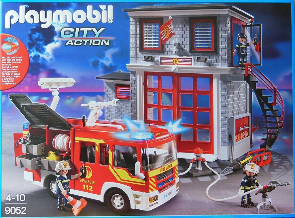 playmobil set 9052 ger station and fire truck klickypedia. Black Bedroom Furniture Sets. Home Design Ideas