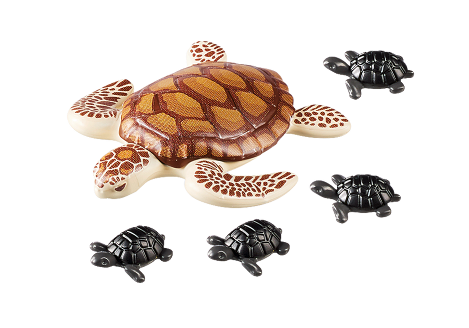 Playmobil 9071 - Turtle with baby - Back