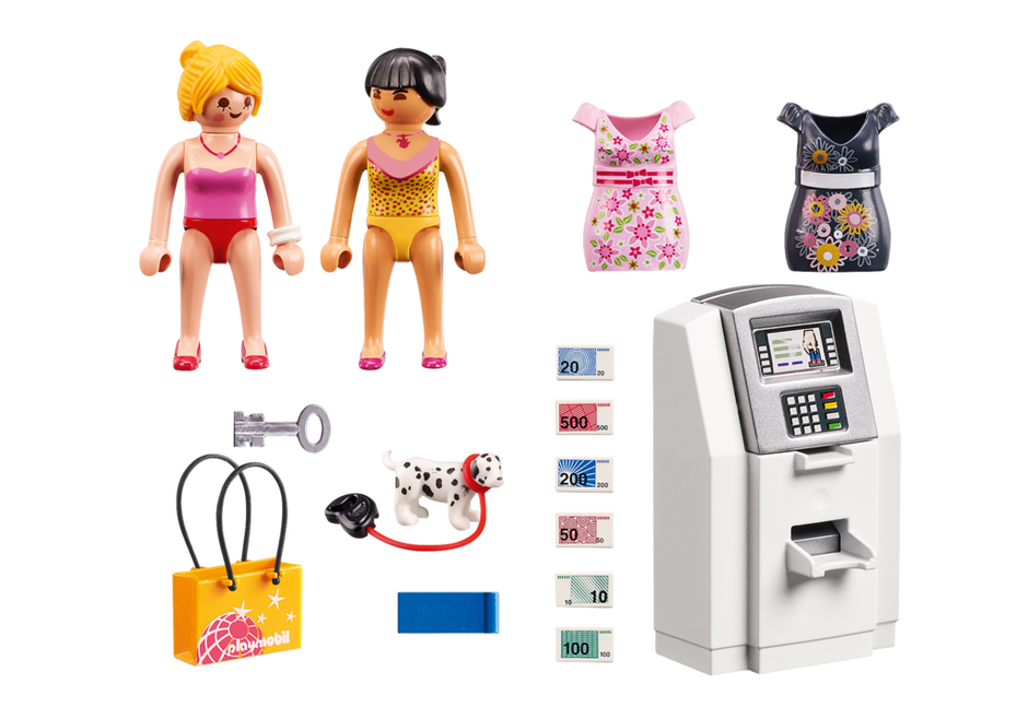 Playmobil 9081 - Cash machine - Back