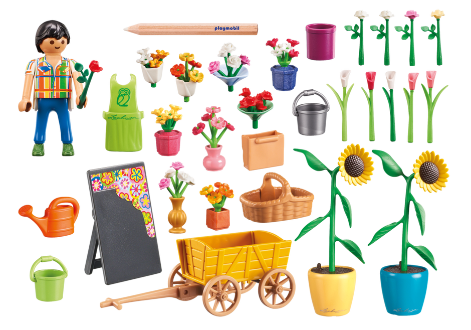Playmobil 9082 - Flower traders - Back