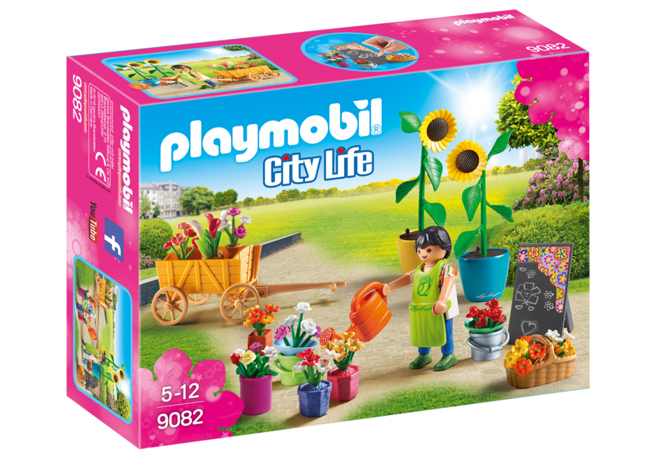 Playmobil 9082 - Flower traders - Box