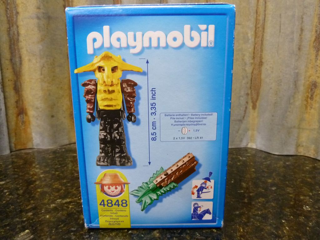 Playmobil 4848 - Temple Guard with Green Light - Back