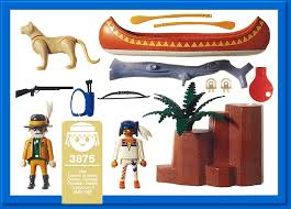 Playmobil 3875 - Trackers Canoe - Back