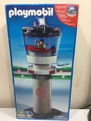 Playmobil 4313 - Airport Tower with Flashing Light - Box