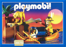 Playmobil 3875 - Trackers Canoe - Box