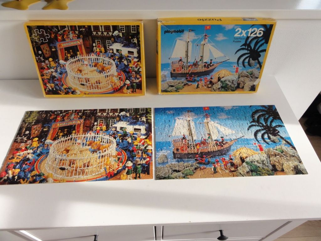 Playmobil 0000 - 2 puzzles of 126 pieces - Back