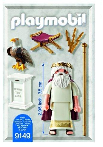Playmobil 9149-gre - Zeus Greek God - Back