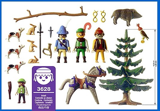 Playmobil 3628 - Hunting Party - Back