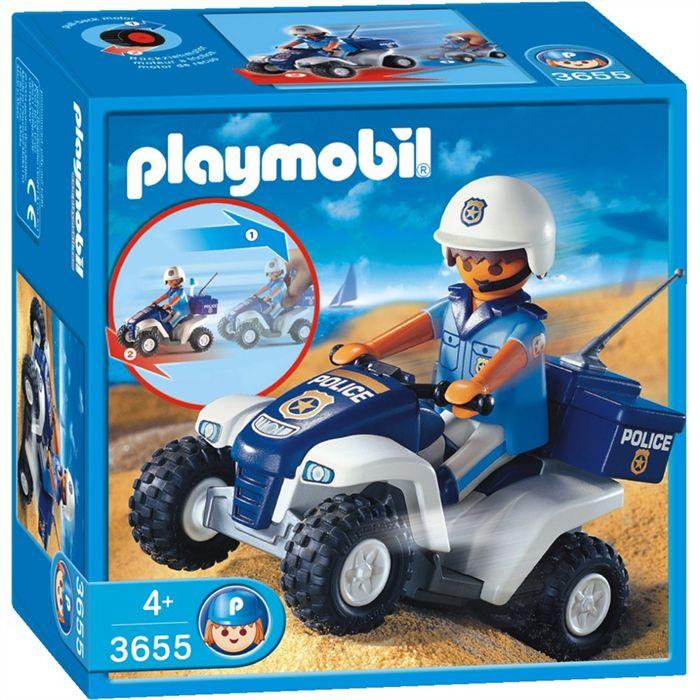 Playmobil 3655s2 - Polizist mit Quad - Box