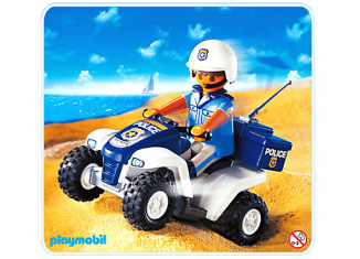 Playmobil - 3655s2 - Polizist mit Quad