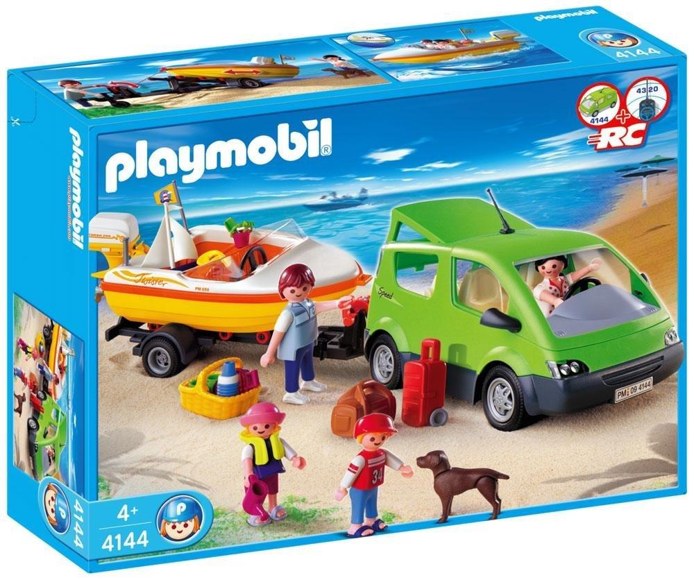 Playmobil 4144 - Familienbus mit Bootsanhänger - Box