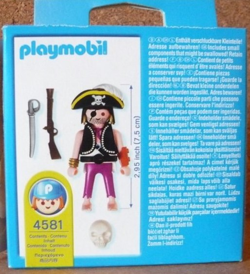 Playmobil 4581-usa - pirate with skull - Back