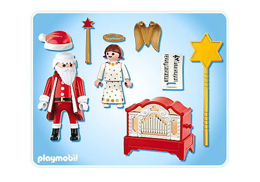 Playmobil 4889 - Little Angel and Santa Claus with Organ - Back