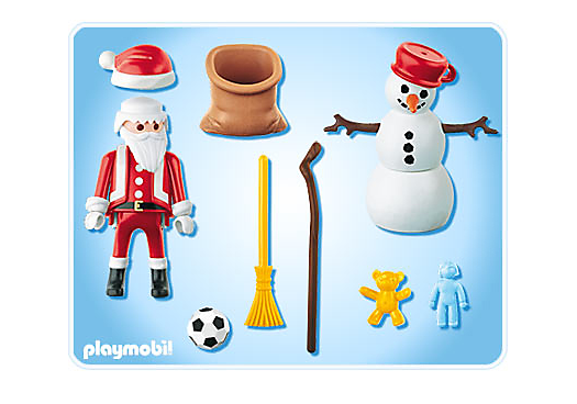 Playmobil 4890 - Duo Pack Santa Claus with Snowman - Back