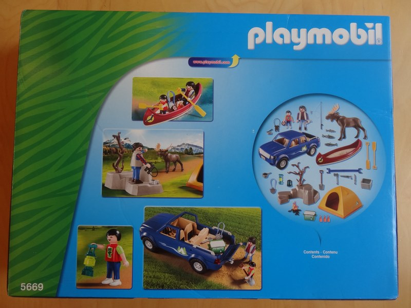 Playmobil 5669-gre - Camping Adventure - Back