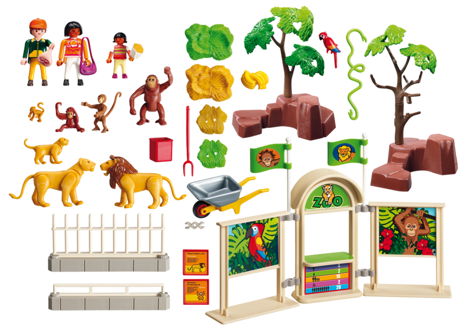 Playmobil 5969-usa - Large Zoo - Back