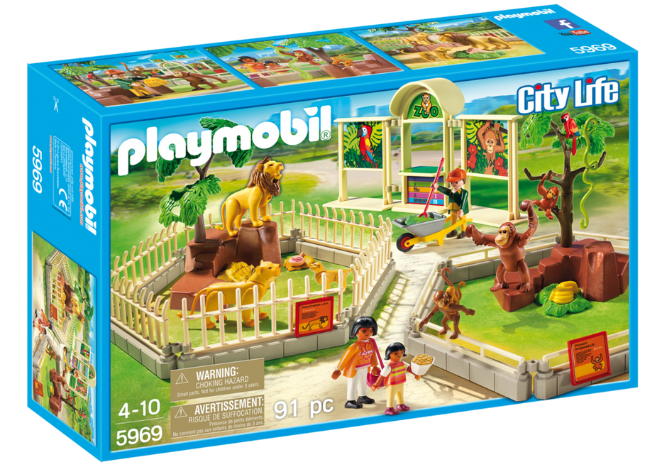 Playmobil 5969-usa - Large Zoo - Box