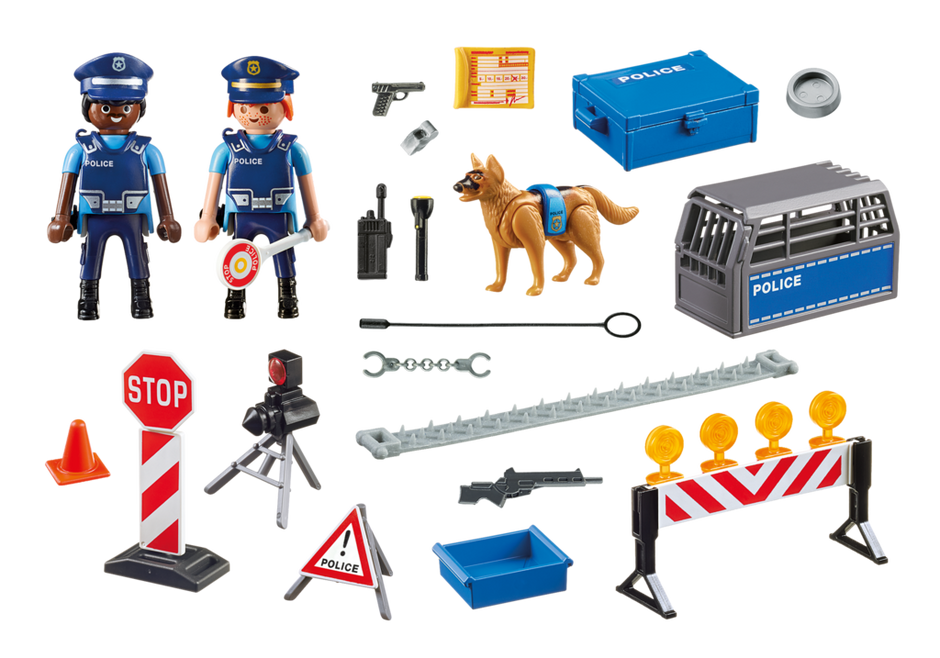 Playmobil 6924 - Police Roadblock - Back
