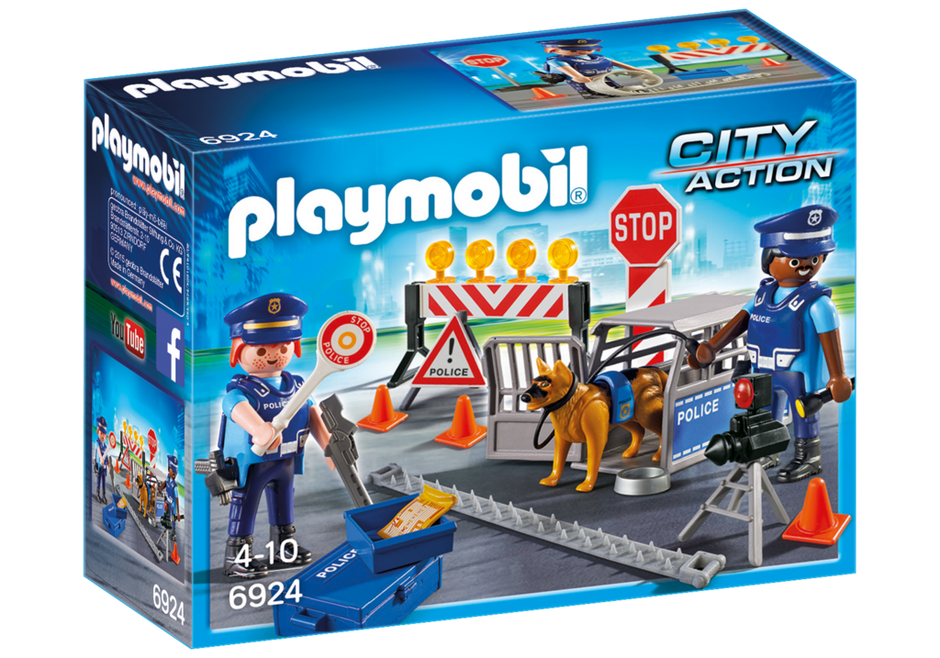 Playmobil 6924 - Police Roadblock - Box