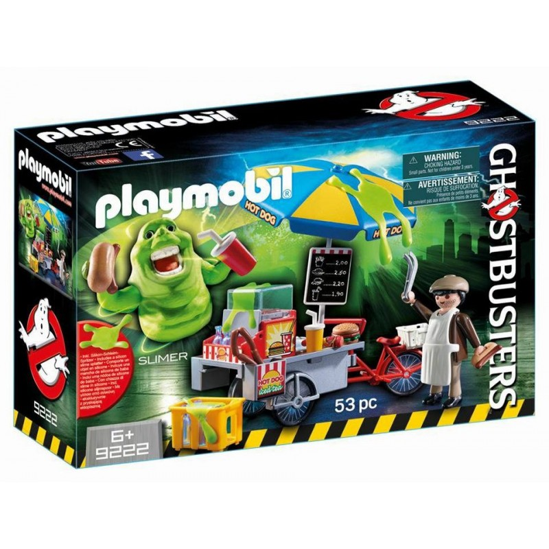 Playmobil 9222 - Slimer with Hot Dog Stand - Box