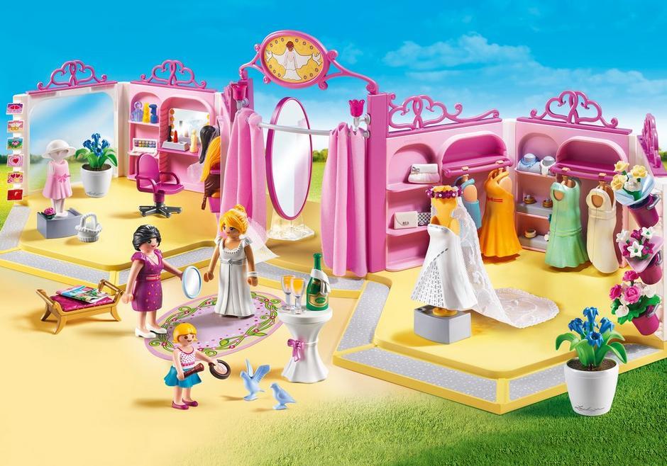 Playmobil set 9226 bridal wear shop with salon for Salon playmobil