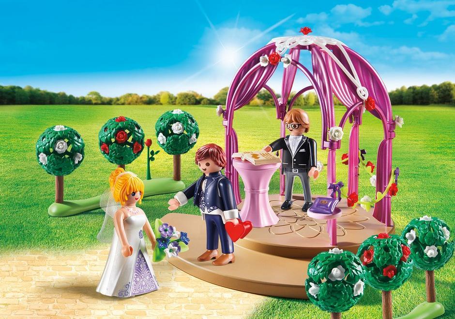 Playmobil set 9229 wedding pavilion with bridal couple for Playmobil pferde set