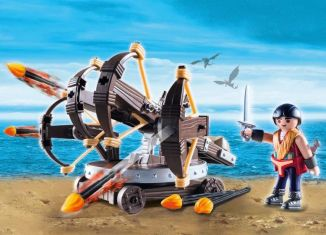 Playmobil - 9249 - Eret with 4 Shot Fire Ballista