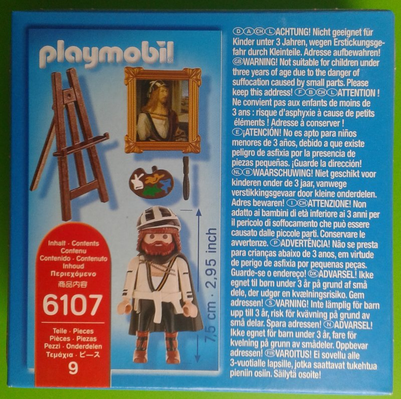 Playmobil 6107v2 - Albert Durero - Back