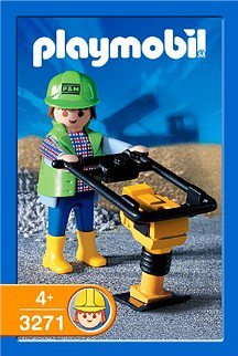 Playmobil 3271s2 - Construction Worker - Box