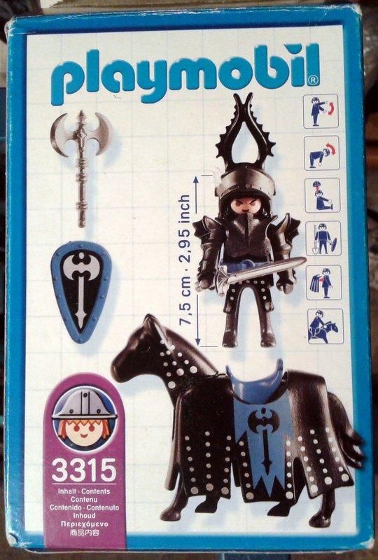 Playmobil 3315s2 - Black Knight - Back