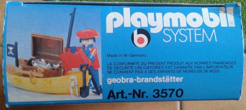 Playmobil 3570-ger - pirata / bote de remo - Caja