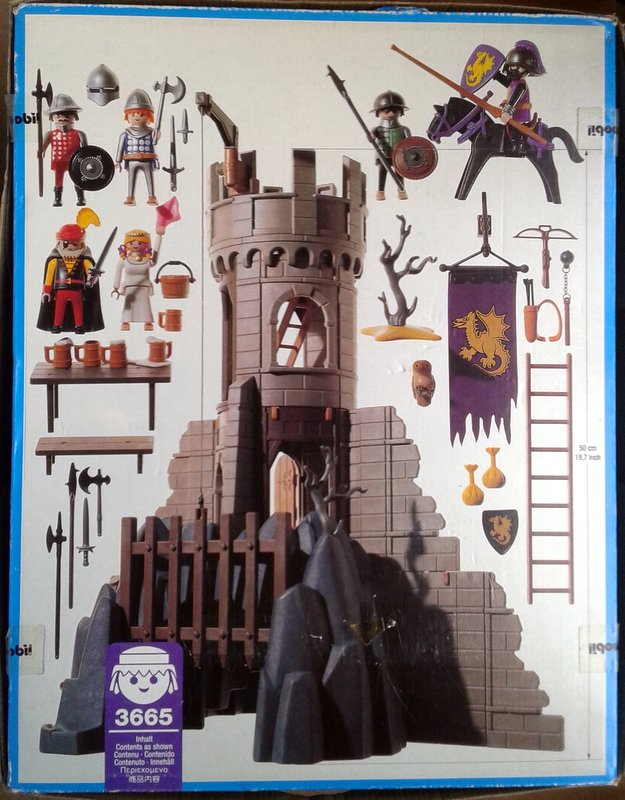 Playmobil 3665 - Baron's Battle Tower - Back