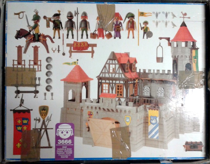 Playmobil 3666 - Kings Large Castle - Back
