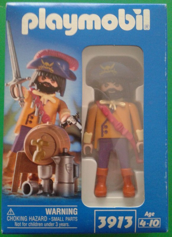 Playmobil 3913-usa - Pirate captain - Box