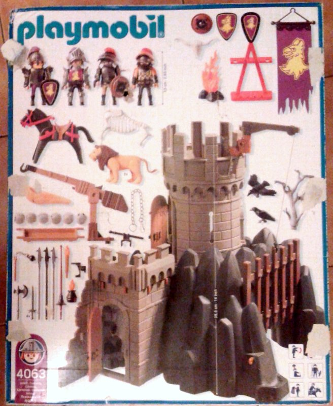 Playmobil 4063 - Battle Tower & Hideout - Back