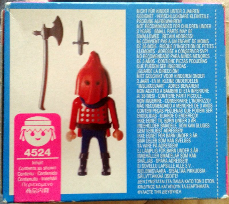 Playmobil 4524 - Axe Man - Back
