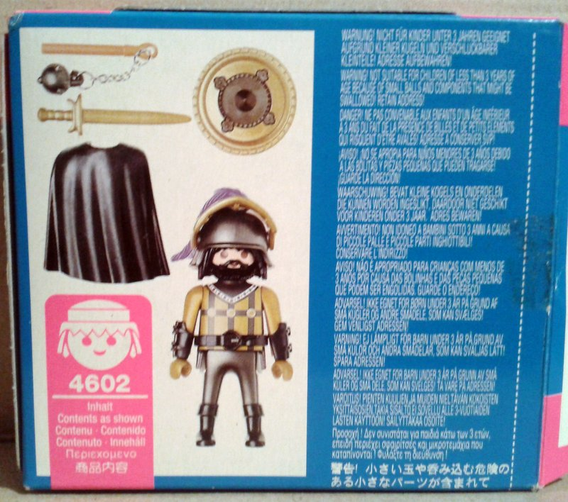 Playmobil 4602 - Knight In Armor - Back