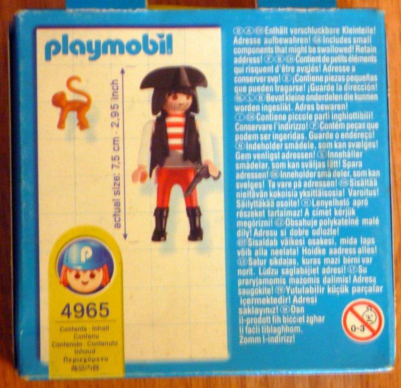 Playmobil 4965-usa - Pirate with monkey - Back