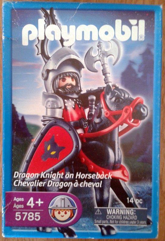 Playmobil 5785-usa - Dragon Knight On Horseback - Box