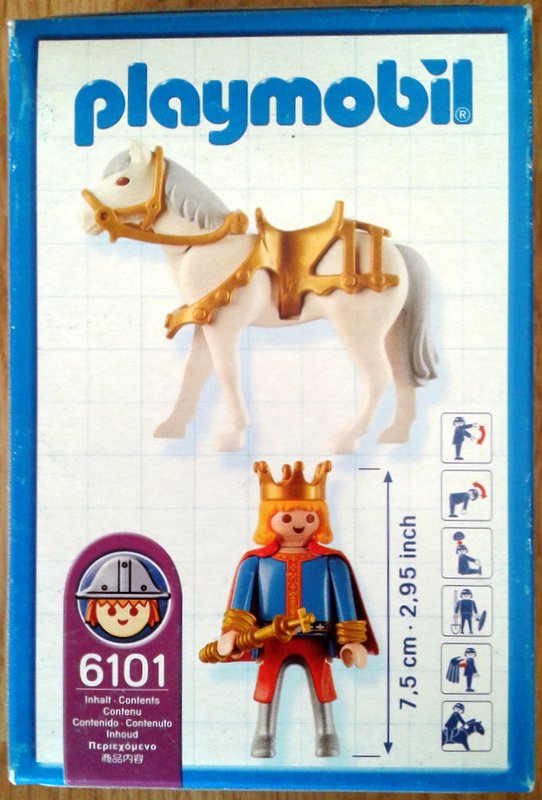 Playmobil 6101 - Magdeburger Rider - Back