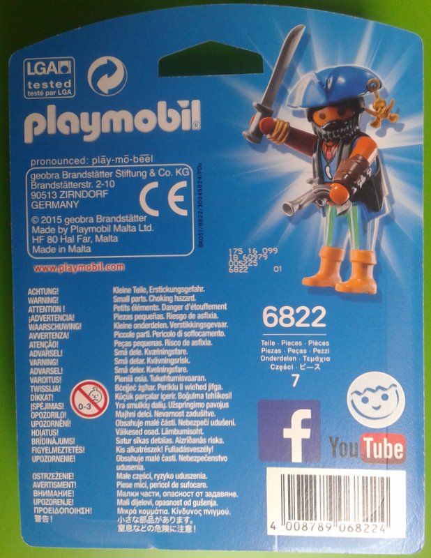 Playmobil 6822 - caribbean pirate - Back