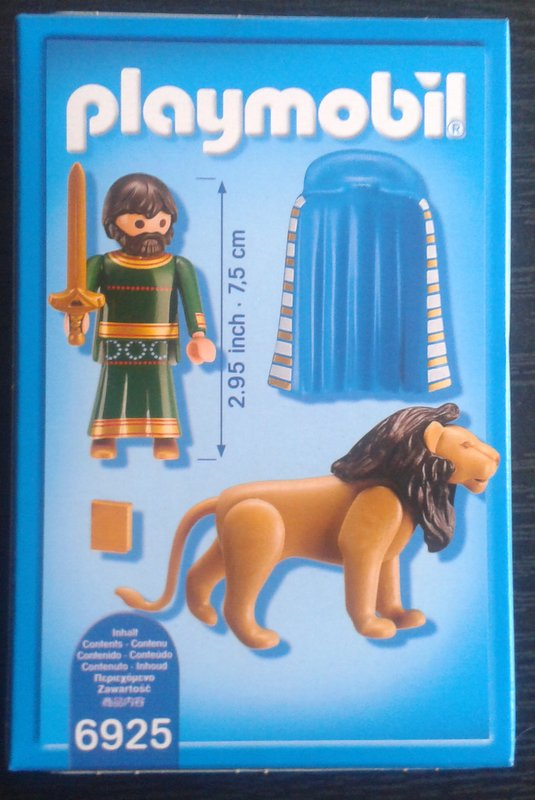 Playmobil 6925-ger - Henry the Lion - Back