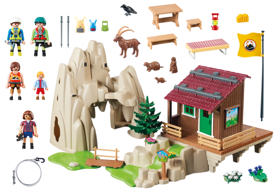 Playmobil 9126 - Rock Climbers with Cabin - Back