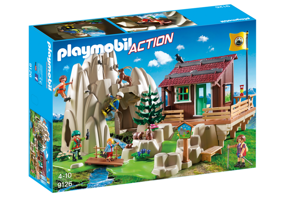 Playmobil 9126 - Rock Climbers with Cabin - Box