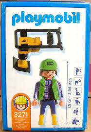 Playmobil 3271s2 - Construction Worker - Back