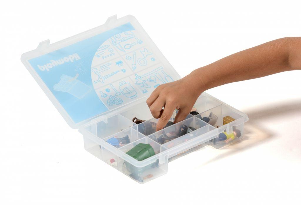 Playmobil 00000 - 23L Storage Box + Compartment Case - Mix - Back