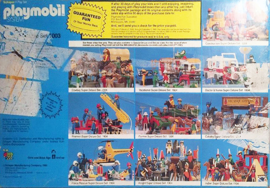 Playmobil 1003-sch - Cowboy Special Deluxe Set - Box