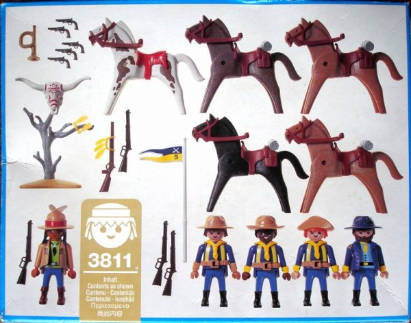 Playmobil 3811 - U.S. Cavalry - Back