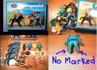 Playmobil - 4003-lyr - Cowboys with horses